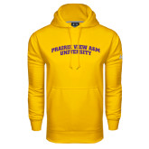 Under Armour Gold Performance Sweats Team Hoodie-Arched Prairie View A&M