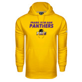 Under Armour Gold Performance Sweats Team Hoodie-Stacked Prairie View A&M Panthers