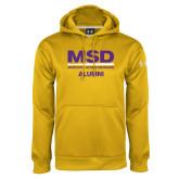 Under Armour Gold Performance Sweats Team Hoodie-MSD Alumni