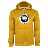 Under Armour Gold Performance Sweats Team Hoodie-Marching Storm Cloud Circle - Fan