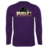 Performance Purple Longsleeve Shirt-Official Logo