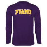 Performance Purple Longsleeve Shirt-Arched PVAMU