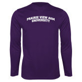 Performance Purple Longsleeve Shirt-Arched Prairie View A&M