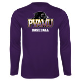 Syntrel Performance Purple Longsleeve Shirt-Baseball