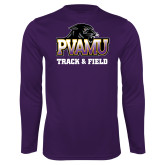 Performance Purple Longsleeve Shirt-Track & Field