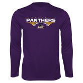 Performance Purple Longsleeve Shirt-Football Design