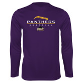Performance Purple Longsleeve Shirt-Baseball Design