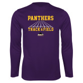 Performance Purple Longsleeve Shirt-Track & Field Design