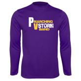 Performance Purple Longsleeve Shirt-PV Marching Storm Band