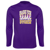 Syntrel Performance Purple Longsleeve Shirt-Praire View marching Storm w/ Majors