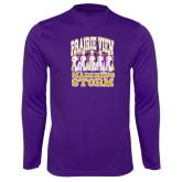 Performance Purple Longsleeve Shirt-Praire View marching Storm w/ Majors