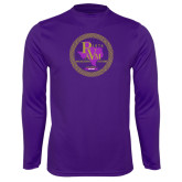 Syntrel Performance Purple Longsleeve Shirt-PVAM Marching Band Seal