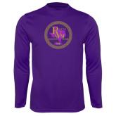 Performance Purple Longsleeve Shirt-PVAM Marching Band Seal