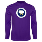 Syntrel Performance Purple Longsleeve Shirt-Marching Storm Cloud Circle