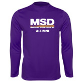 Syntrel Performance Purple Longsleeve Shirt-MSD Alumni
