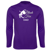 Syntrel Performance Purple Longsleeve Shirt-Black Fox Dad