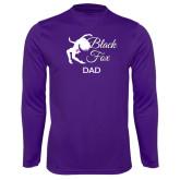 Performance Purple Longsleeve Shirt-Black Fox Dad