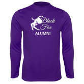 Performance Purple Longsleeve Shirt-Black Fox Alumni