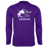 Syntrel Performance Purple Longsleeve Shirt-Black Fox Grandpa