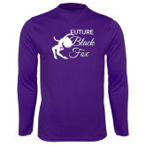 Syntrel Performance Purple Longsleeve Shirt-Future Black Fox