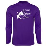 Performance Purple Longsleeve Shirt-Future Black Fox