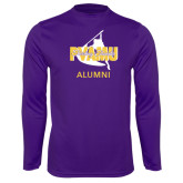 Performance Purple Longsleeve Shirt-Twirling Thunder Alumni