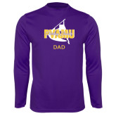 Syntrel Performance Purple Longsleeve Shirt-Twirling Thunder Dad