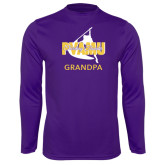 Syntrel Performance Purple Longsleeve Shirt-Twirling Thunder Grandpa