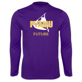 Syntrel Performance Purple Longsleeve Shirt-Future Twirling Thunder