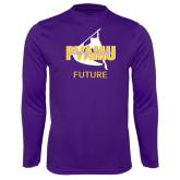 Performance Purple Longsleeve Shirt-Future Twirling Thunder