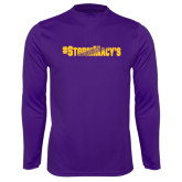 Syntrel Performance Purple Longsleeve Shirt-#StormMacys