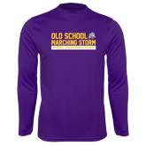 Performance Purple Longsleeve Shirt-Old School w/ Cloud