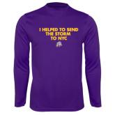 Performance Purple Longsleeve Shirt-The Storm To NYC w/ Cloud