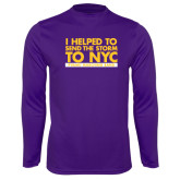 Syntrel Performance Purple Longsleeve Shirt-The Storm To NYC Stacked