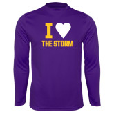 Syntrel Performance Purple Longsleeve Shirt-I Heart The Storm