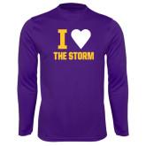 Performance Purple Longsleeve Shirt-I Heart The Storm