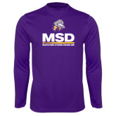 Syntrel Performance Purple Longsleeve Shirt-MSD w/ PVAM Logo
