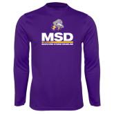 Performance Purple Longsleeve Shirt-MSD w/ PVAM Logo