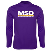 Syntrel Performance Purple Longsleeve Shirt-MSD