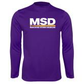 Performance Purple Longsleeve Shirt-MSD