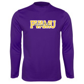 Syntrel Performance Purple Longsleeve Shirt-PVAMU Black Fox Overlap