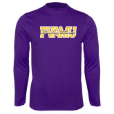 Syntrel Performance Purple Longsleeve Shirt-PVAMU Twirling Thunder Overlap