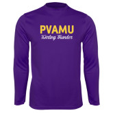 Syntrel Performance Purple Longsleeve Shirt-PVAMU Twirling Thunder Script