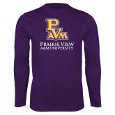 Performance Purple Longsleeve Shirt-PVAM Stacked