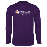 Performance Purple Longsleeve Shirt-Grandpa