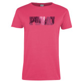 Ladies Fuchsia T Shirt-PVAMU Foil