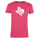 Ladies Fuchsia T Shirt-PVAM Texas
