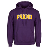 Purple Fleece Hood-Arched PVAMU