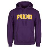 Purple Fleece Hood-Arched PVAMU