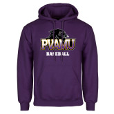 Purple Fleece Hood-Baseball